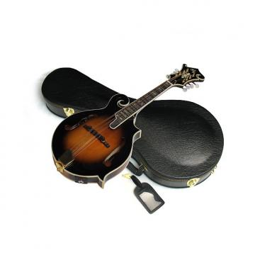 Custom MICHAEL KELLY Legacy Flame FSE acoustic electric MANDOLIN w/ CASE - Sunburst - Blem