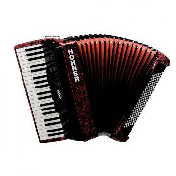 Custom Hohner Bravo 120 Red Piano Accordion Acordeon w/Gig Bag, Straps, Instruction DVD - FedEx 3 Day Ship!