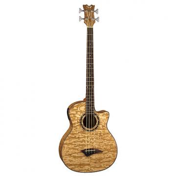 Custom Dean Acoustics Exotica Quilt Ash Bass Guitar w/ Aphex Rosewood Fingerboard - Gloss Natural Finish (EQABA GN)