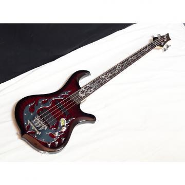 Custom TRABEN Phoenix 4-string BASS guitar NEW Blood Red - Quilt Maple
