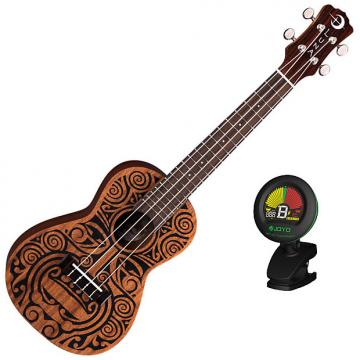 Custom Luna Tribal Concert Manogany Ukulele Bundle