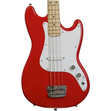 Custom Squier Bronco Bass - Torino Red