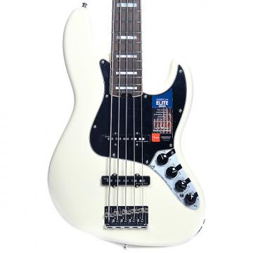 Custom Fender American Elite Jazz Bass V 5-String Olympic White