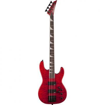Custom Jackson JS Series Concert Bass JS3 Transparent Red W/ Free Shipping