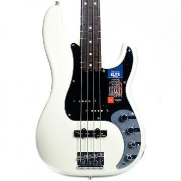 Custom Fender American Elite Precision Bass RW Olympic White