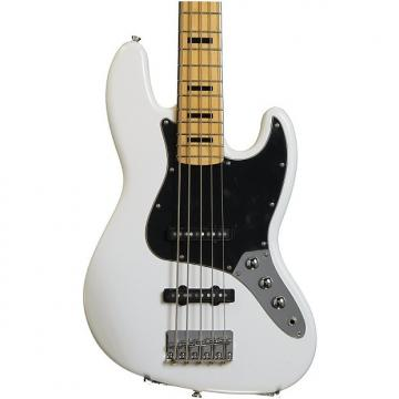 Custom Squier Vintage Modified Jazz Bass V - Olympic White
