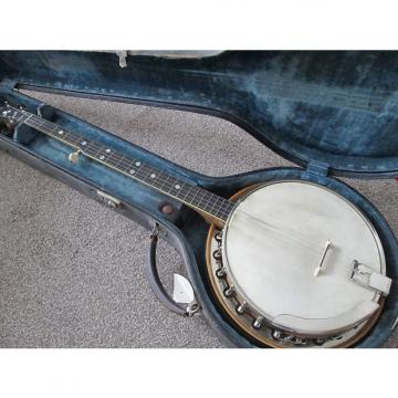 Custom Slingerland May Bell style B five string banjo 1920's wooden inlaid back