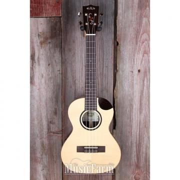 Custom Kala KASRTSC Bearclaw Spruce Tenor Ukulele Solid Wood with Scallop Cutaway Uke