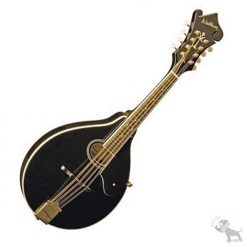 Custom Washburn M1SDL Black A Style Mandolin Solid Spruce Top