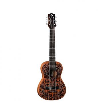 Custom Luna UKE TRIBAL 6 Ukulele, 6 String, Natural