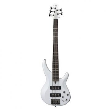 Custom Yamaha TRBX305 White Bass Guitar - 5 String