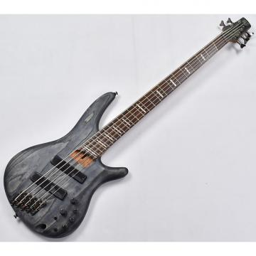 Custom Ibanez SRFF805-BKS SR Workshop Series 5 String Multi-Scale Electric Bass in Black Stained Finish