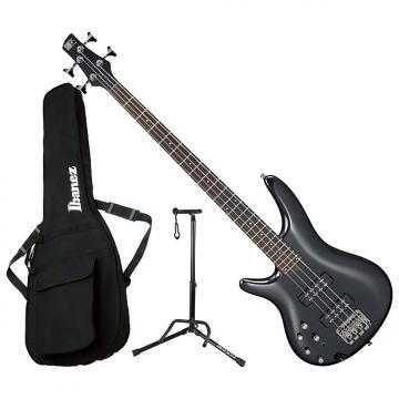 Custom Ibanez SR300EL IPT Left Handed 4-String Electric Bass Bundle