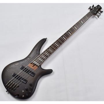 Custom Ibanez SR Bass Workshop SRFF805 Multi-Scale 5 String Electric Bass Walnut Flat