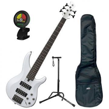Custom Yamaha TRBX305 WH 5-String Bass Bundle