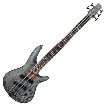 Custom Ibanez Bass Workshop SRFF805 5 String Multi-Scale Electric Bass Black Stain