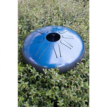 "Custom Idiopan 12"" Domina Electric Steel Tongue Drum Blue"