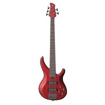 Custom Yamaha TRBX305 5-String Electric Bass (Candy Apple Red Finish)