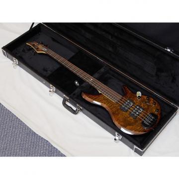 Custom Traben Chaos Core 4-string Bass guitar Whiskey Burl NEW w/ Hard Case