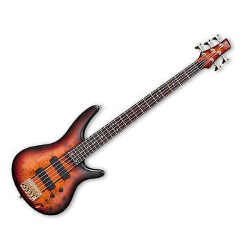 Custom Ibanez SR805AWT SR805 5-string bass Poplar Burl Top Aged Whiskey Burst Flat