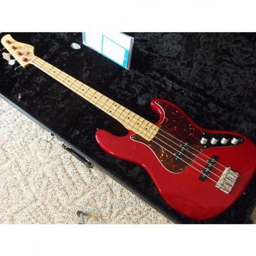Custom Suhr Classic J Custom Bass Guitar & Case. Translucent Crimson over Swamp Ash. Stunning!