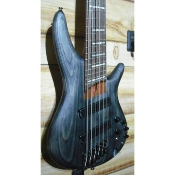 Custom used Ibanez SRFF806 Multi Scale 6 String Electric Bass Black Stained Inspired by Fanned