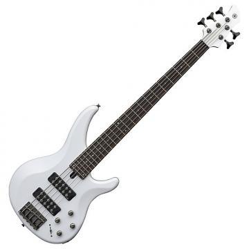 Custom Yamaha TRBX305 5-String White Bass Guitar