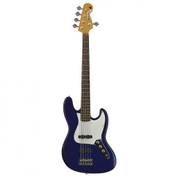 Custom Fishbone PB5 MB 5 String Bass Blue Solid Great Sound MAKE AN OFFER