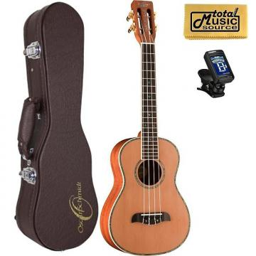 Custom Oscar Schmidt Mike Lynch Tenor Ukulele w/ Case,OUUM200K Bundle, OUUM200K PACK