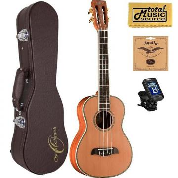 Custom Oscar Schmidt Mike Lynch Tenor Ukulele w/ Case,OUUM200K Deluxe Bundle, OUUM200K COMP