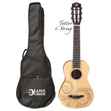 Custom Luna Tattoo 6-String Baritone Ukulele, UKE TAT 6