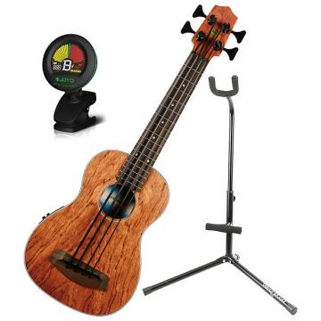 Custom Kala UBASS-BNGA-FS Bubinga Ukulele Bass Bundle