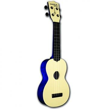 Custom Kala MK-SWS/BL Makala Waterman Series Water-Resistant Ukulele in Swirl Blue with Gig Bag
