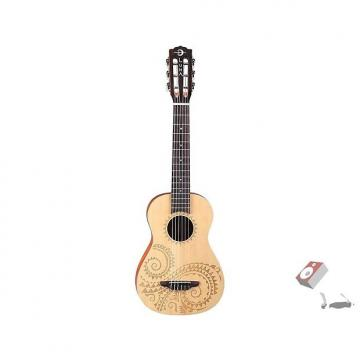 Custom Luna Guitars 6-String Tattoo Baritone Mahogany Ukulele