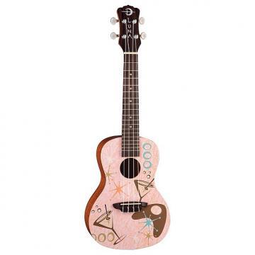 Custom Luna 50's Inspired Pink Martini Concert Ukulele with Gigbag