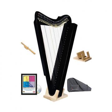 Custom Harpsicle Harps Fullsicle Harp w/ Stand, Stick, Book/DVD & Case - Black