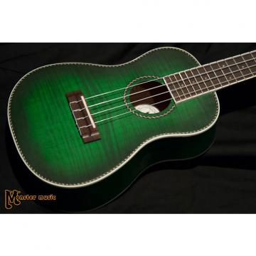 Custom Dean Ukelele Concert Flame Maple  Trans Green