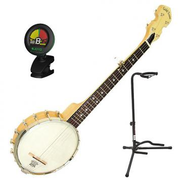Custom Gold Tone Mini Cripple Creek Travel Banjo Bundle