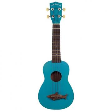 Custom Kala Makala Shark Series Soprano Ukulele - Mako Blue, Vintage Finish