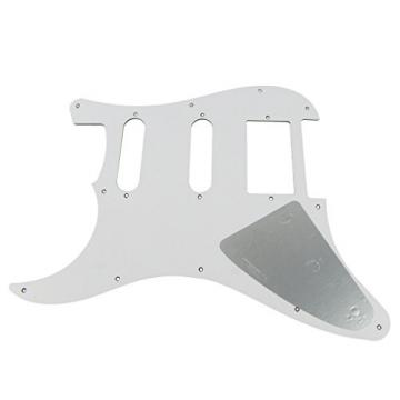 IKN HSS 3Ply Pick Guard Scratch Plate w/Screws for Squier Style Guitar,Tawny Stripe