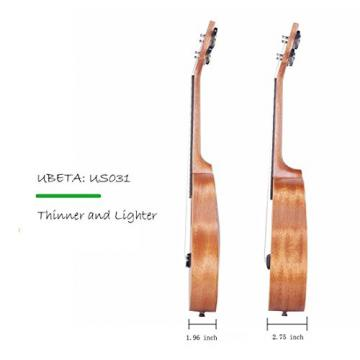 UBETA US-031 Soprano Ukulele Mahogany (5 in 1)Kit: Gig bag, clip-on tuner, picks and straps