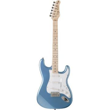Jay Turser JT-300M-LPB Solid-Body Electric Guitars, Lake Placid Blue