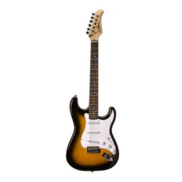Silvertone SS15 TS Solid-Body Electric Guitar, Tabacco Sunburst