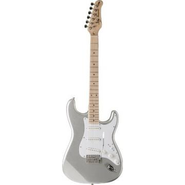 Jay Turser JT-300M-CRS Solid-Body Electric Guitars, Chrome Silver