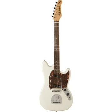 Jay Turser JT-MG-IV Solid-Body Electric Guitar, Ivory