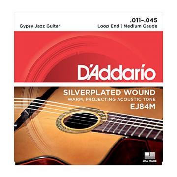 D'Addario martin acoustic strings EJ84M martin strings acoustic Gypsy guitar martin Jazz martin guitars Acoustic martin guitar strings Guitar Strings, Loop End, Medium, 11-45