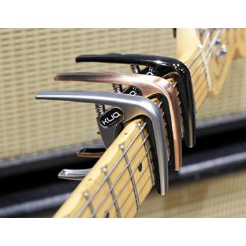 KLIQ K-PO Guitar Capo for 6 String Acoustic and Electric Guitars - Trigger Style for a Quick Change, Brushed Bronze
