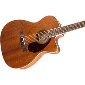 Fender Paramount PM-3 Triple-0 NE All-Mahogany Acoustic Guitar, 20 Frets, Mahogany Neck, Rosewood Fingerboard, Open Pore, Natural