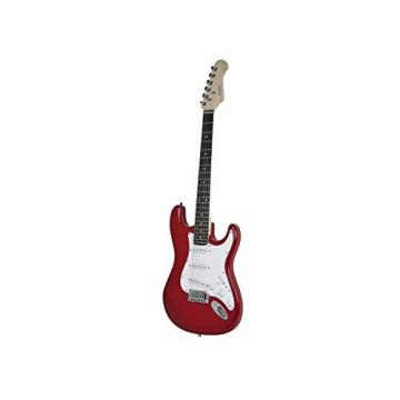 Monoprice 610102 California Classic Solid Body Electric Guitar, Red