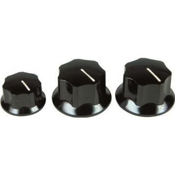 Fender Jazz Bass Knobs - Black